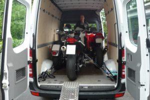 Доставка мотоцикла в Испанию, Италию или Францию.