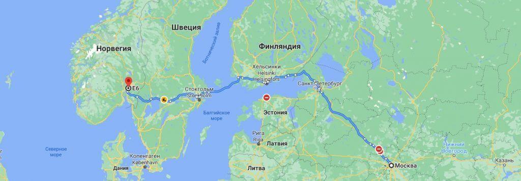 Грузоперевозки в Норвегию из России 38